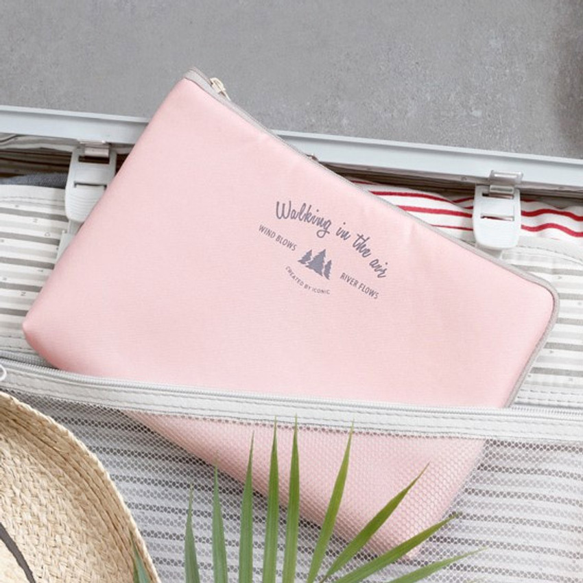 Pink - Walking in the air large cable pouch