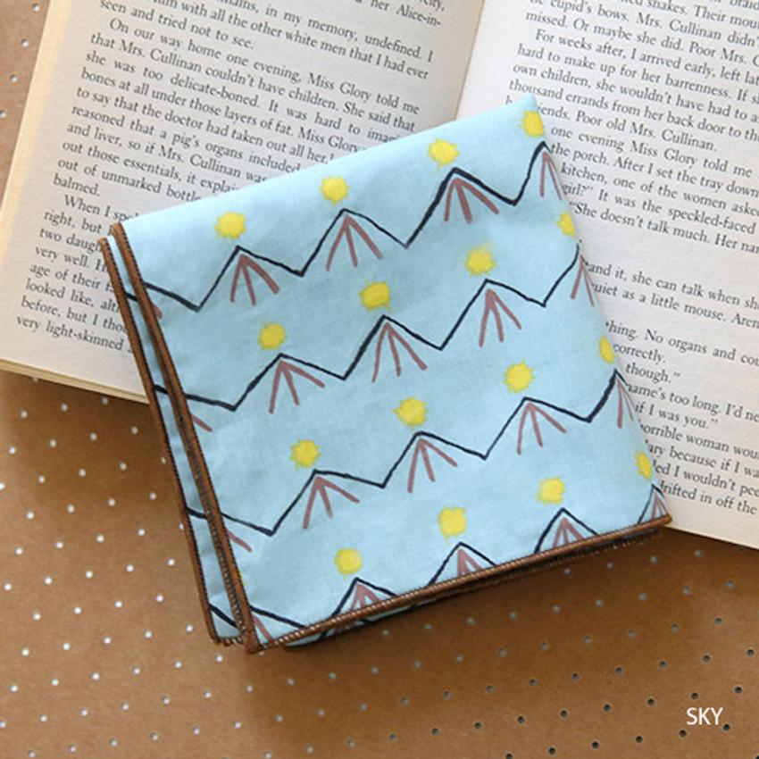 Sky - Florence pattern cotton handkerchief