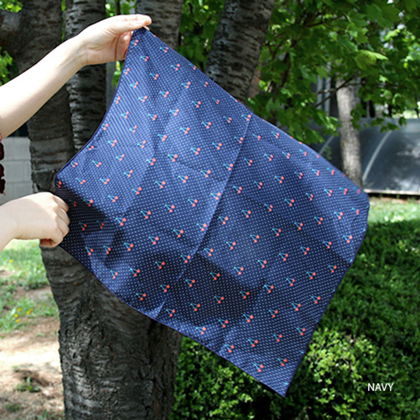 Navy - Florence pattern cotton handkerchief