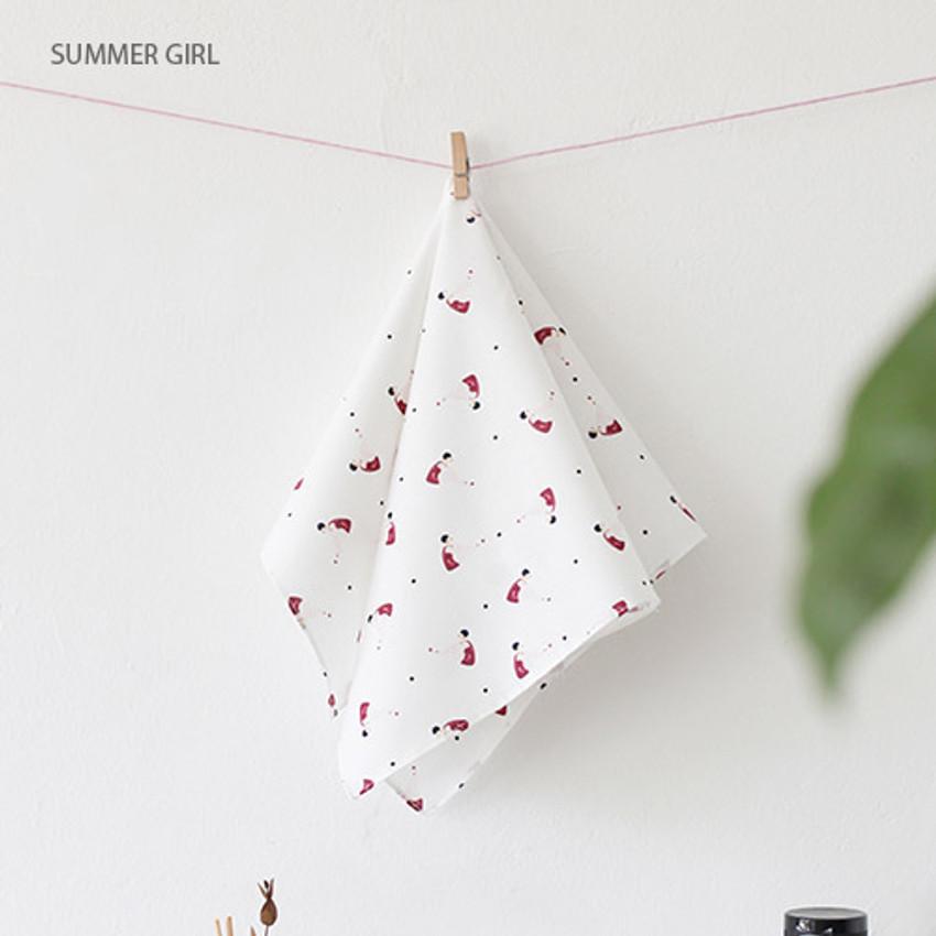 Summer girl - Mon ptit paris pattern hankie handkerchief
