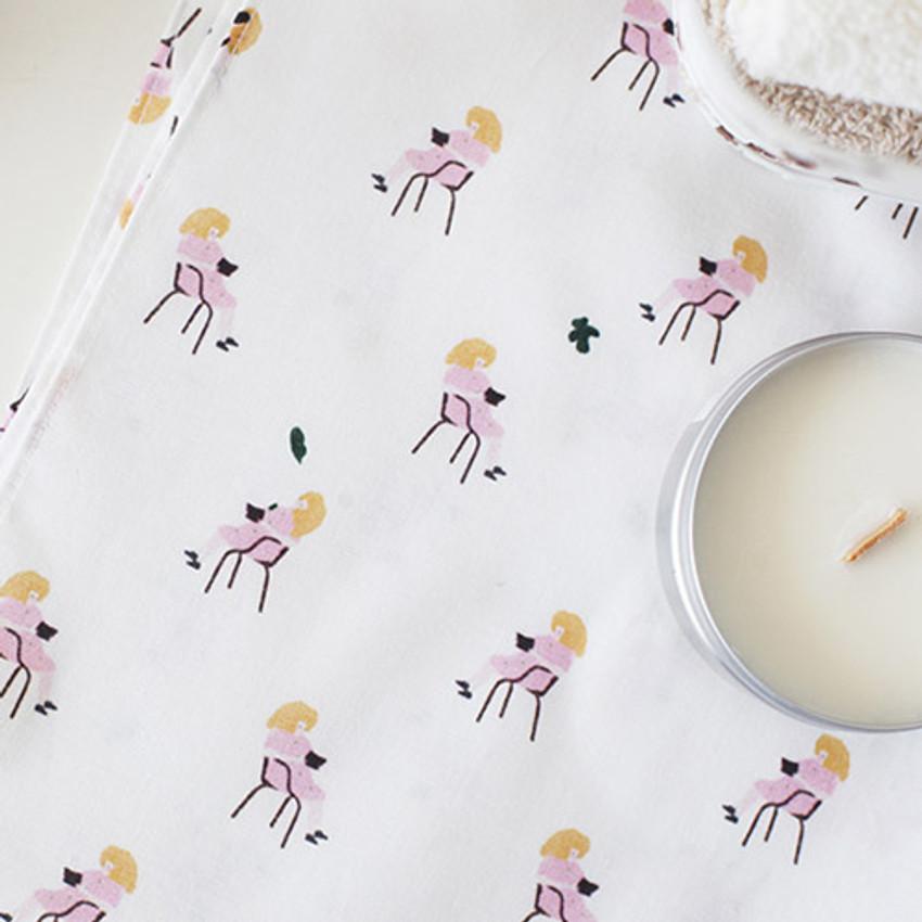 Sieste - Mon ptit paris pattern hankie handkerchief