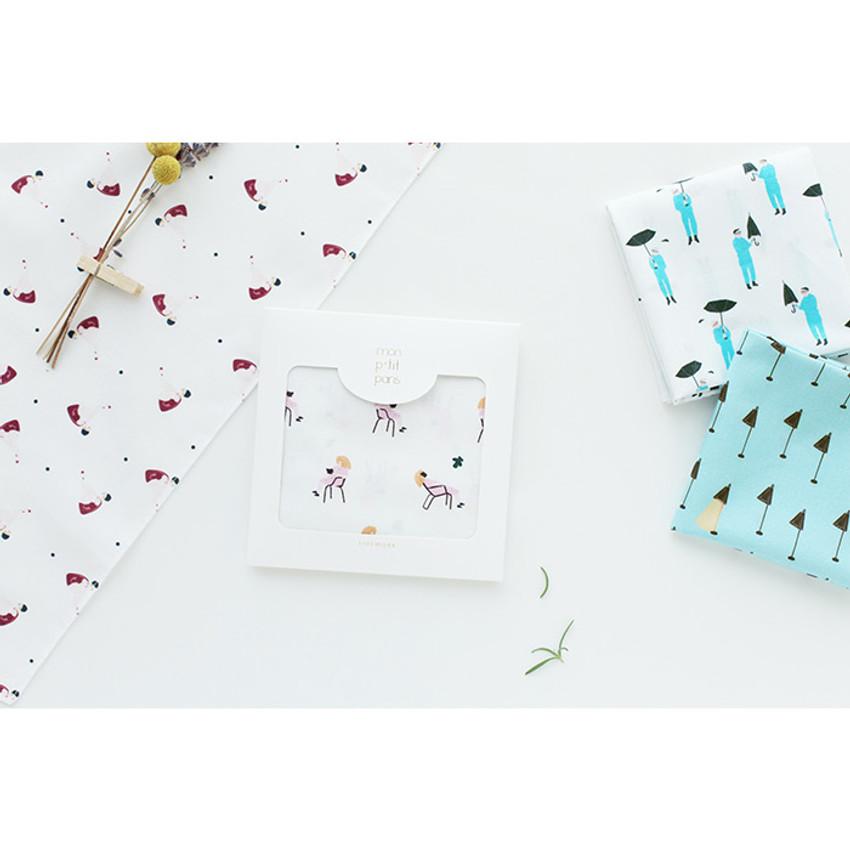 Mon ptit paris pattern hankie handkerchief