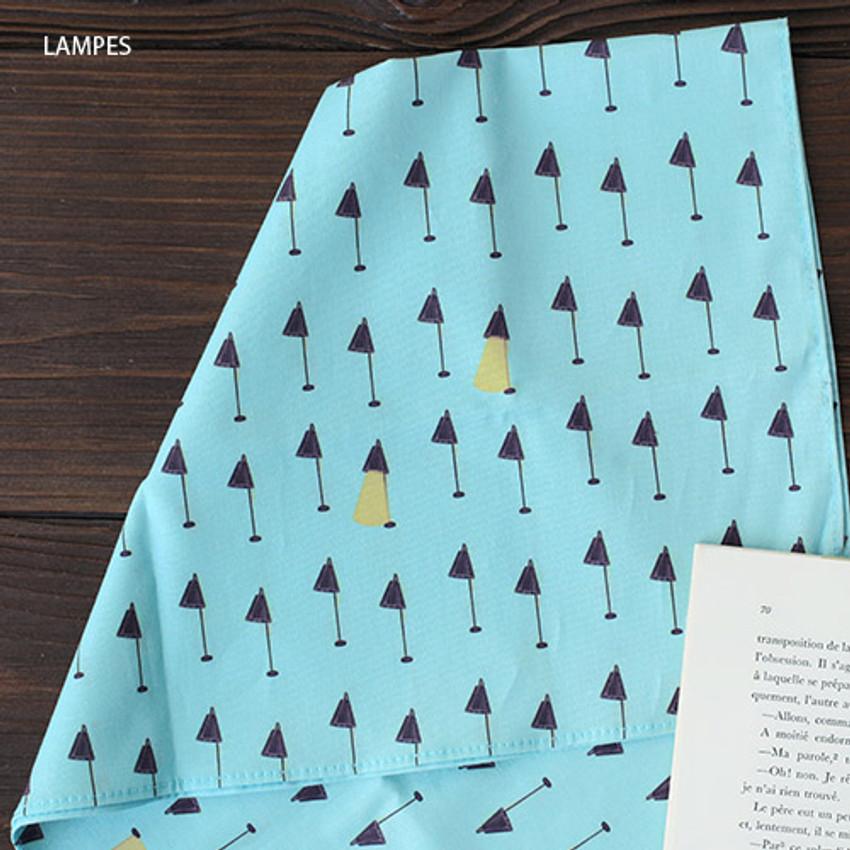 Lampes - Mon ptit paris pattern hankie handkerchief