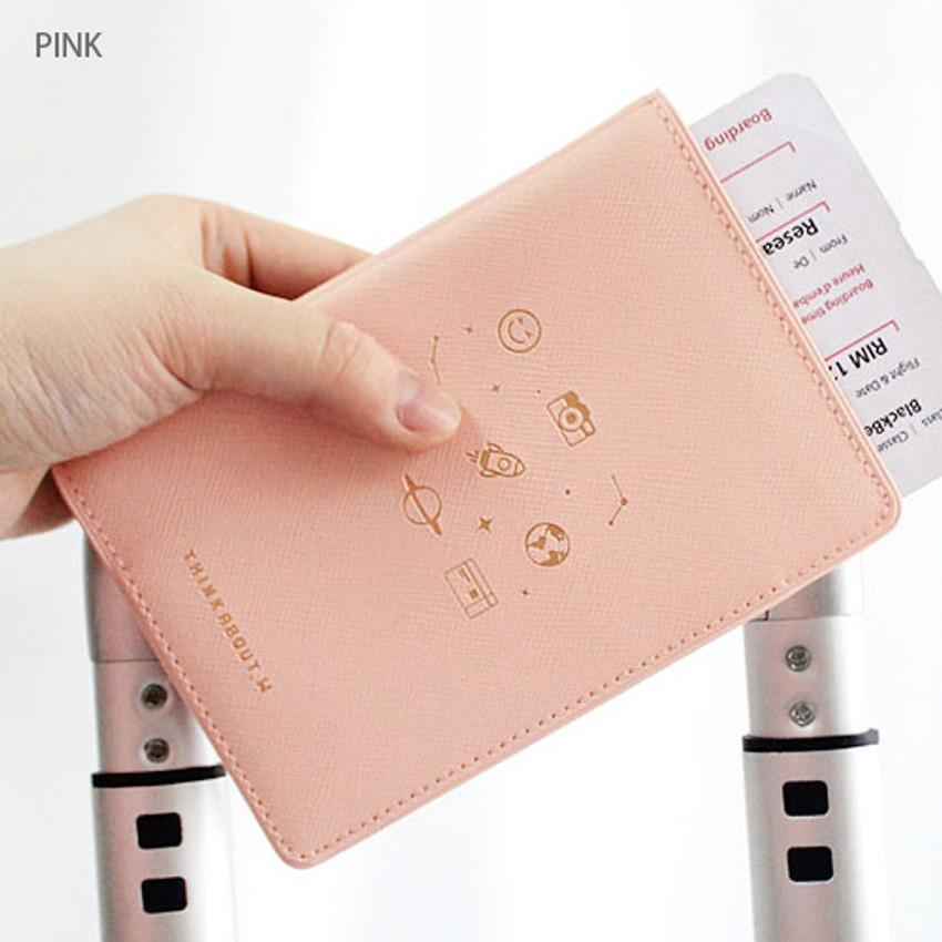 Pink - Twinkle RFID blocking passport cover