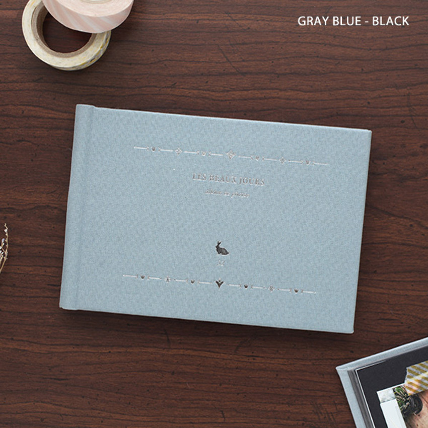 Gray blue - Les beaux jours small scrapbook album