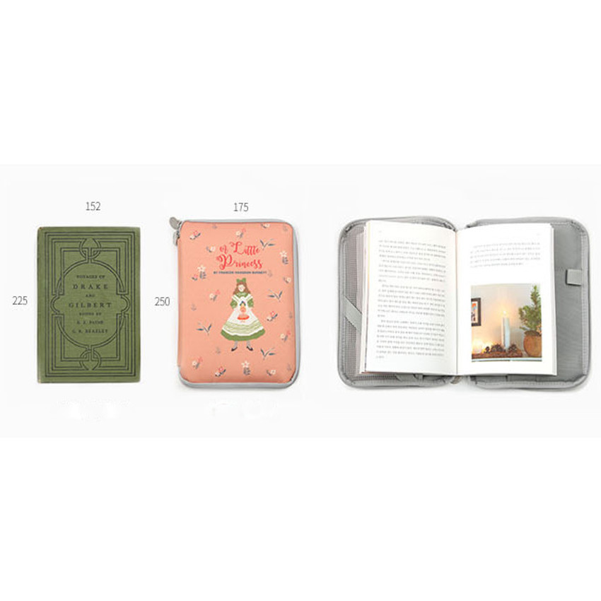 Size of Cute illustration book cover pouch
