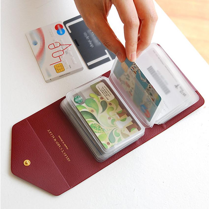 Select pocket card case holder