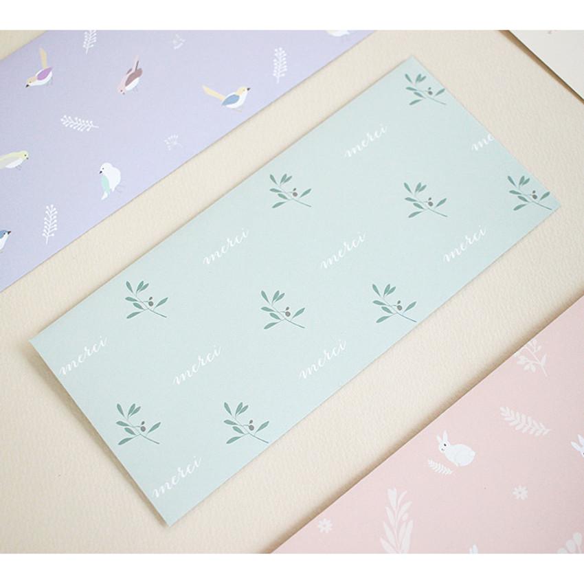 Lovesome gift envelope set horizontal