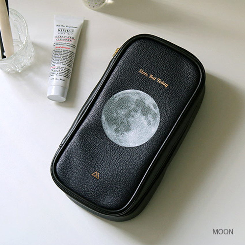 Moon - But today makeup pouch bag