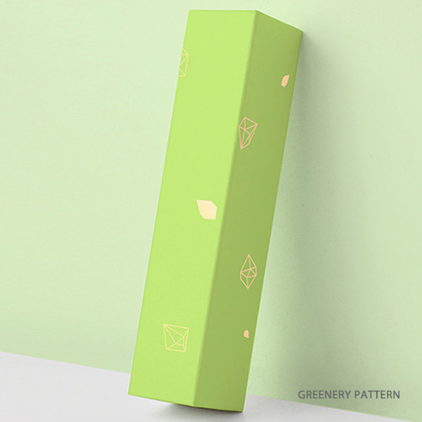 Greenery pattern - Lapis spring edition paper leather pen case box