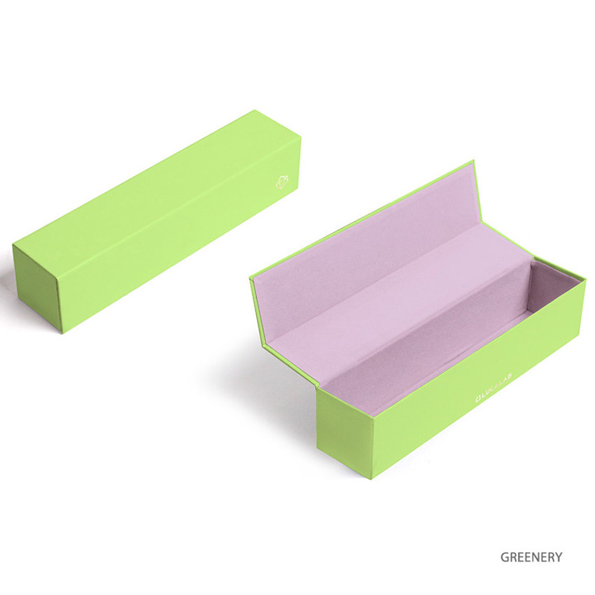 Greenery - Lapis spring edition paper leather pen case box