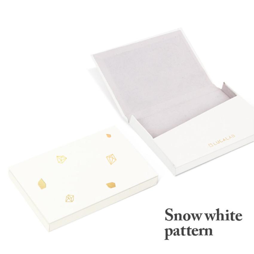 Snow white pattern - Lapis simple paper card case