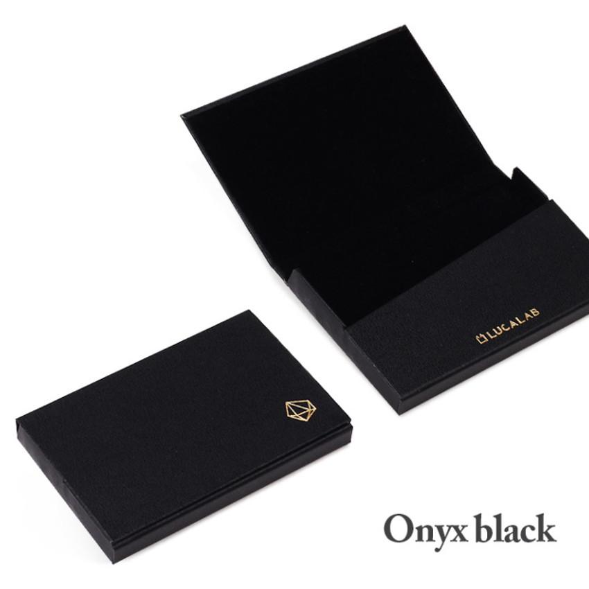 Onyx black - Lapis simple paper card case
