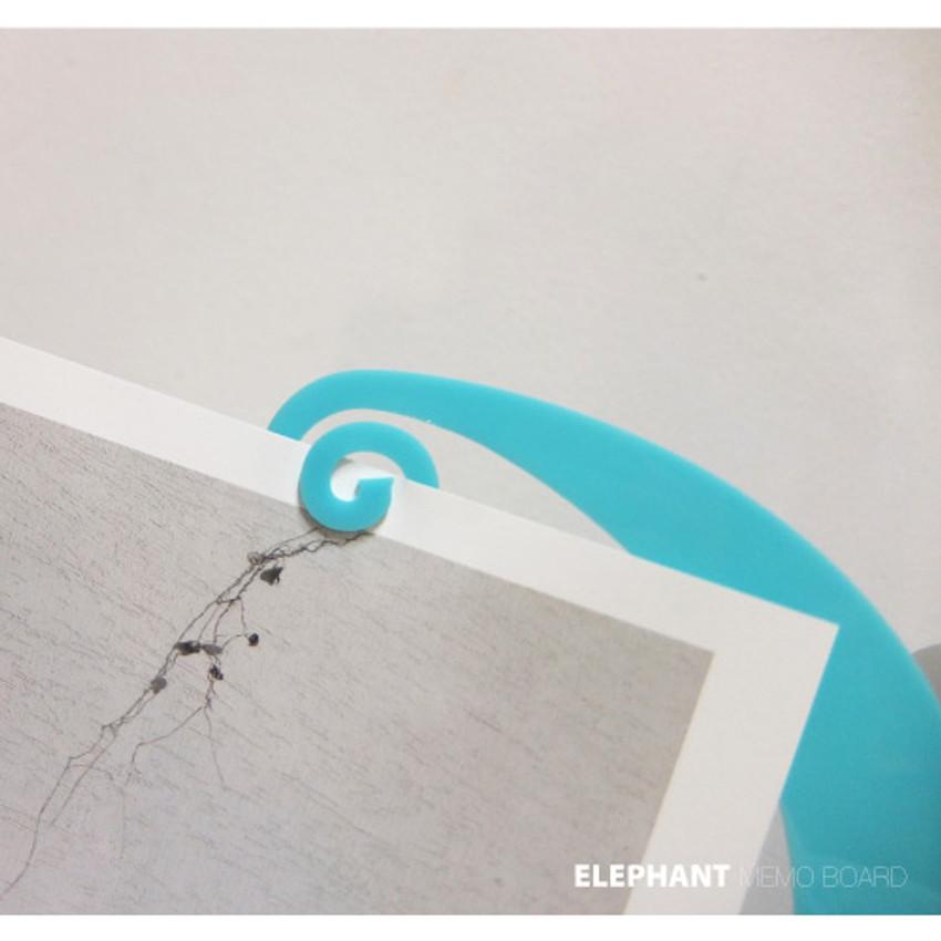 Detail of Elephant Monitor memo board