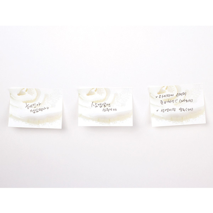 White - Onion sticky memo notes