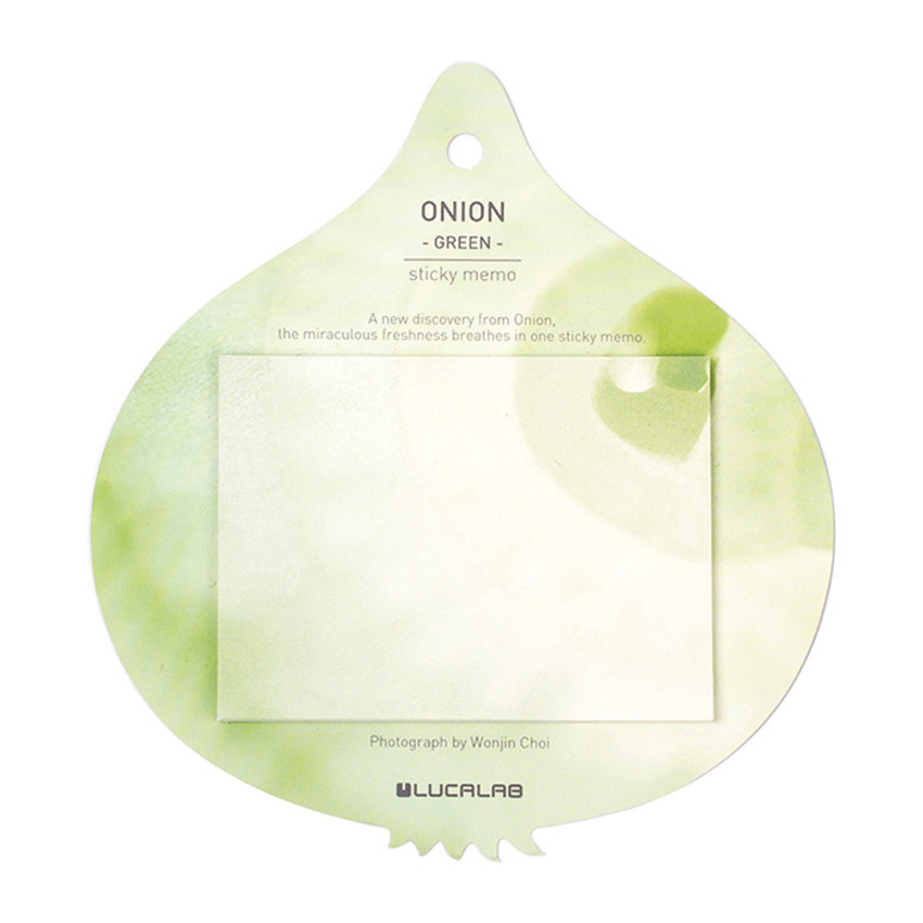 Green - Onion sticky memo notes