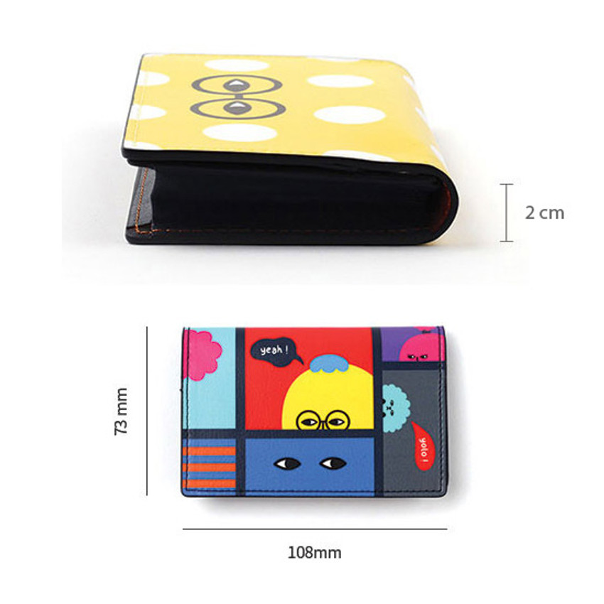 Size of Everymonster small card case wallet