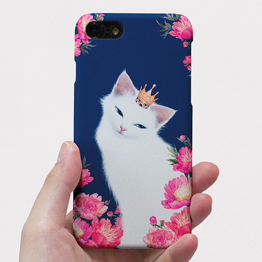 Lily with Flowers polycarbonate iPhone case