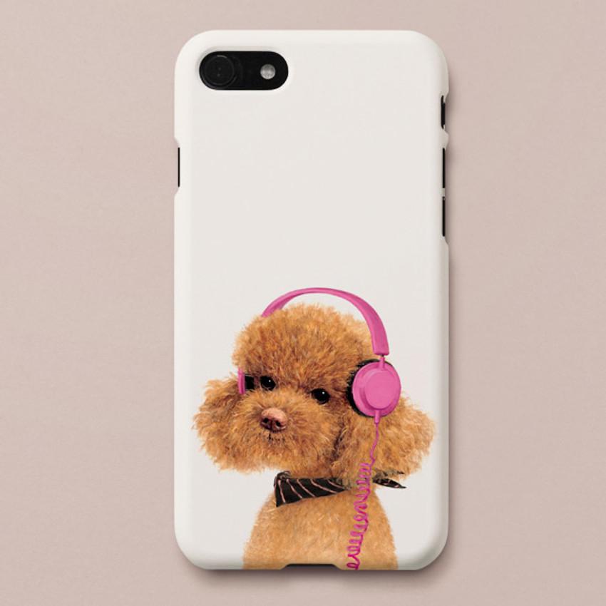 Poodle Amy polycarbonate iPhone case