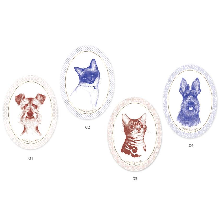 Vivid illustration oval deco sticker