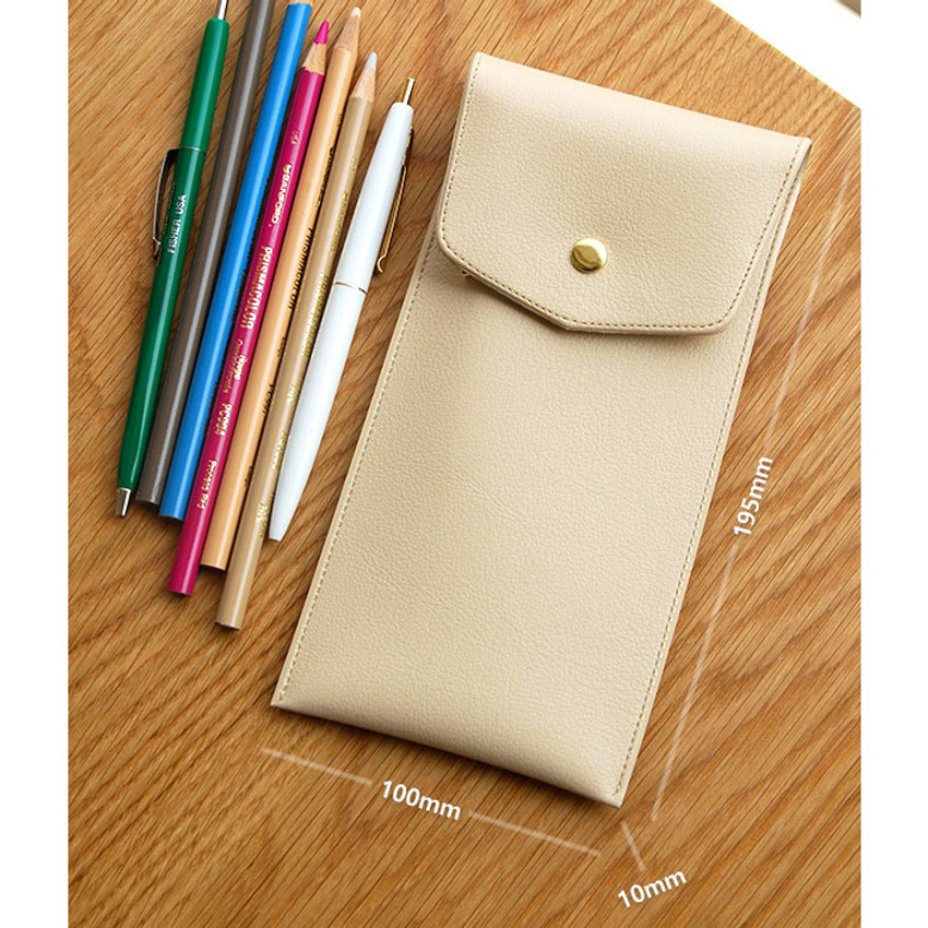 Size of Extra pocket pencil case with snap button