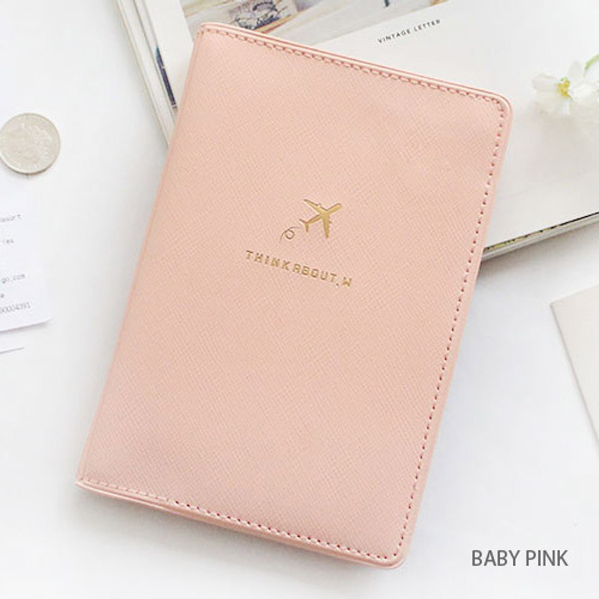 Baby pink - Think about soft RFID blocking passport cover