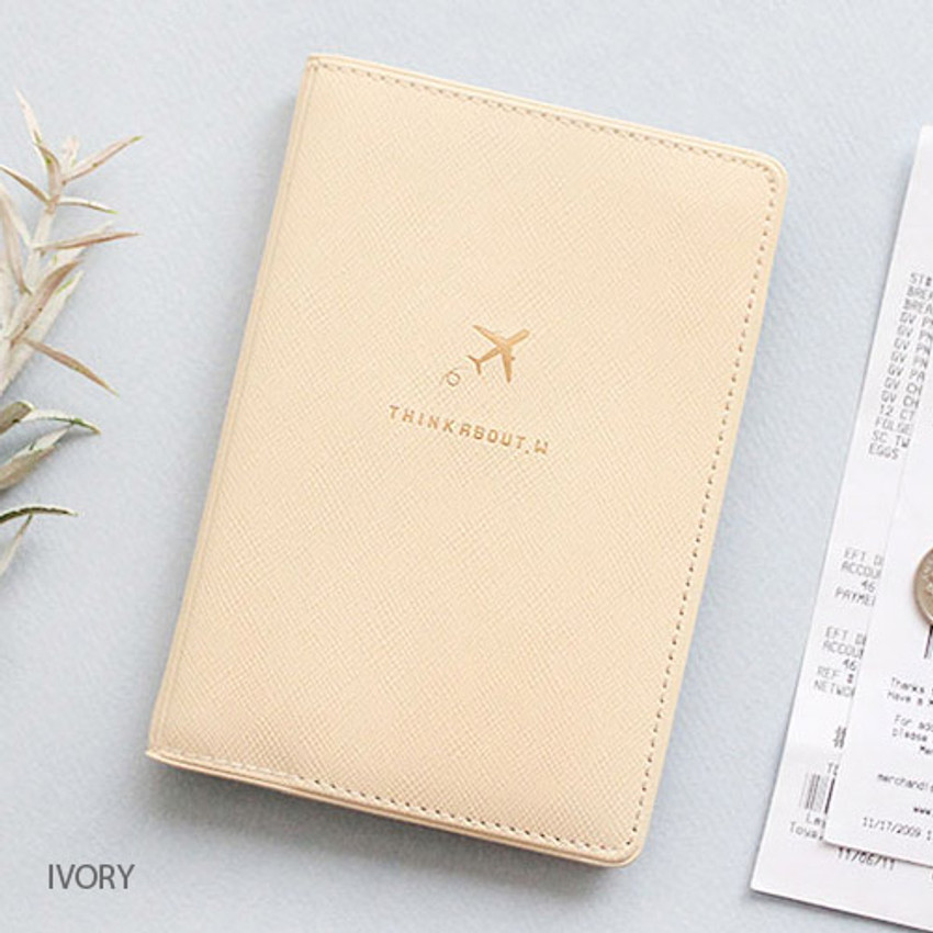 Ivory - Think about soft RFID blocking passport cover