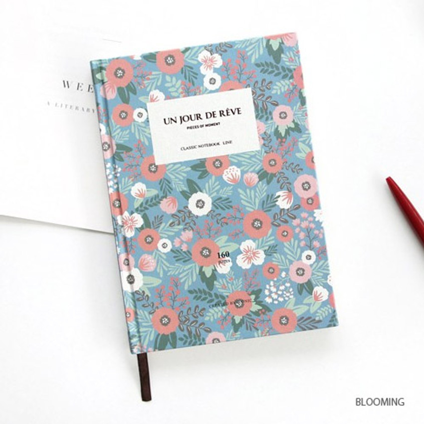 Blooming - Pattern classic hardcover lined notebook