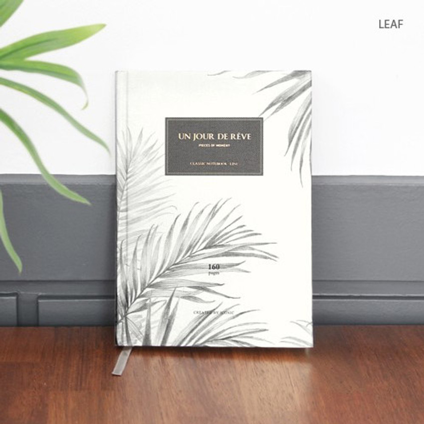 Leaf - Pattern classic hardcover lined notebook