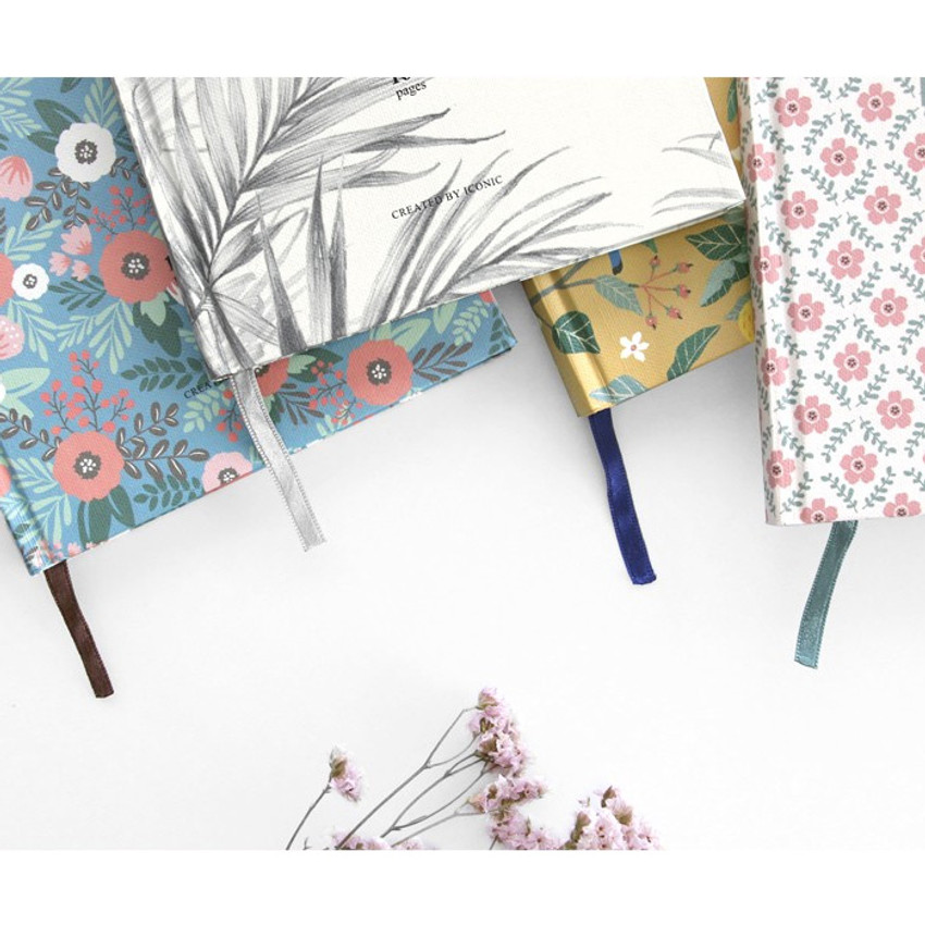 Ribbon bookmark - Pattern classic hardcover lined notebook