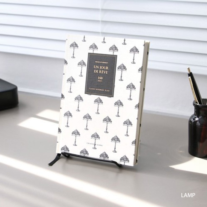 Lamp - Pattern classic hardcover plain notebook