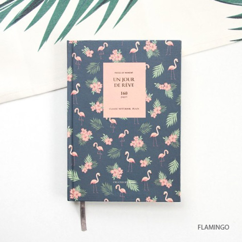 Flamingo - Pattern classic hardcover plain notebook