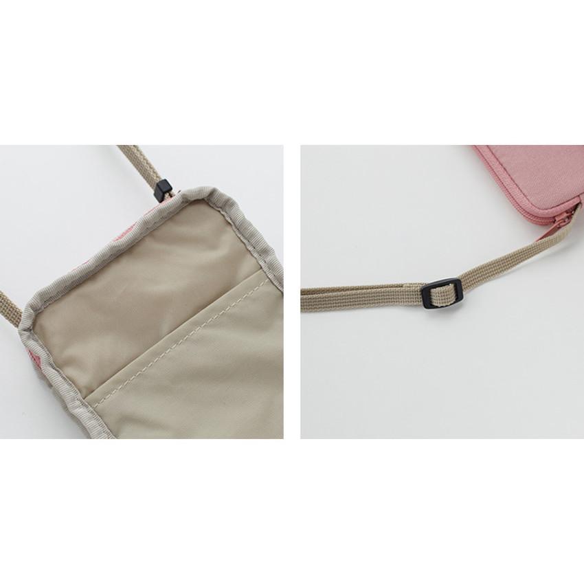 Detail of A low hill basic standard pocket crossbody bag