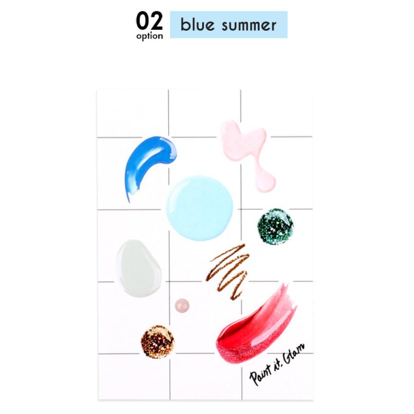 Blue summer - Paint it gram deco sticker