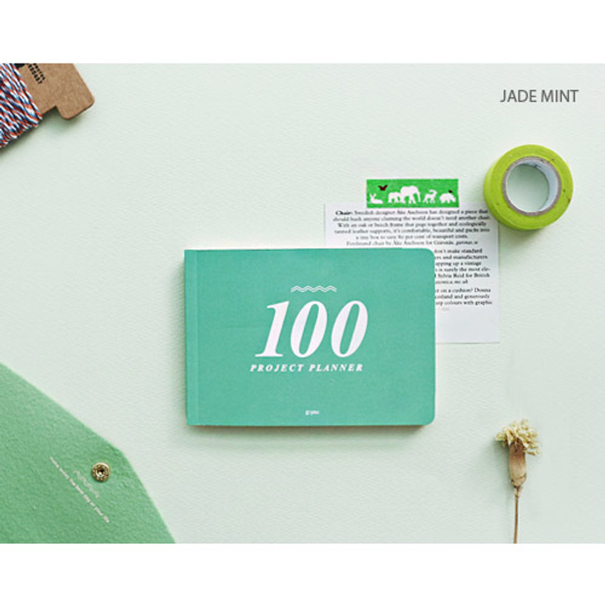 Jade mint - 100 day project planner