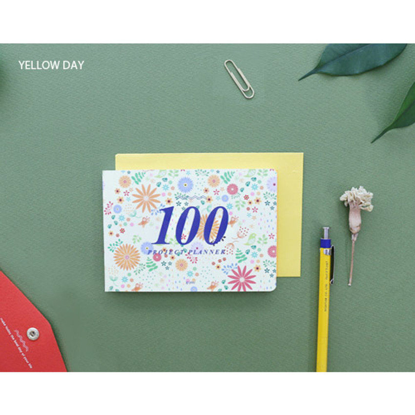 Yellow day - 100 day project planner