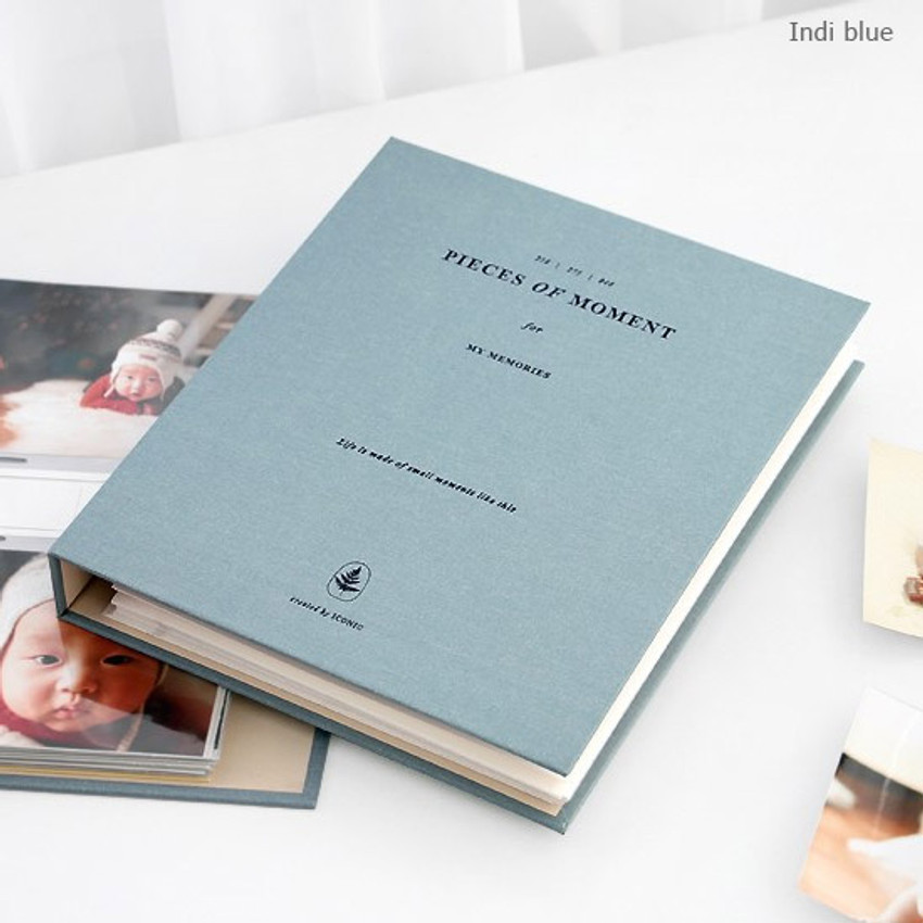 Indi blue - Piece of moment memory 3 ring binder