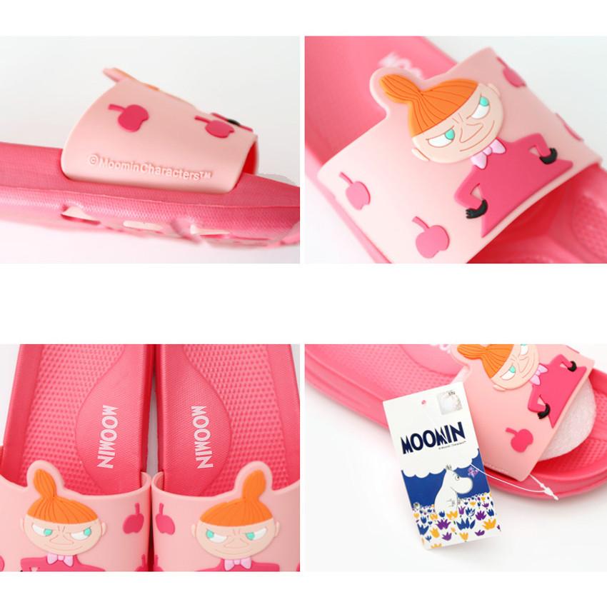 Detail of Moomin PVC slide sandal