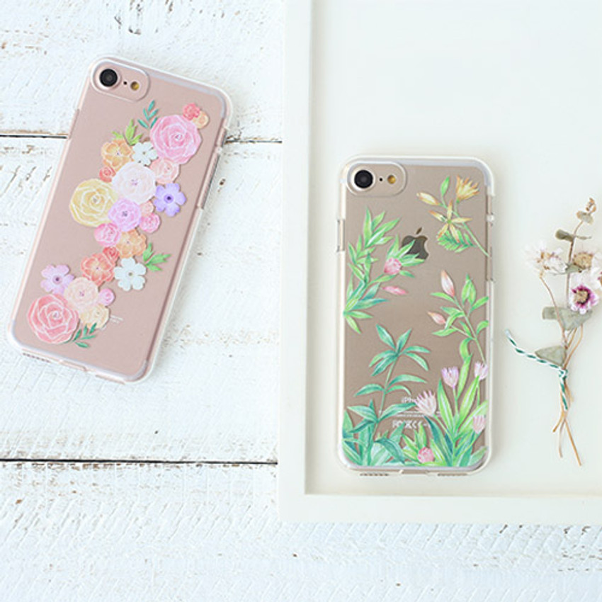 Size of Flower pattern clear TPU iPhone 7 soft case