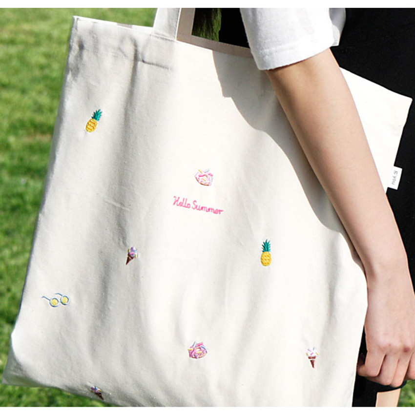 hello summer eco tote bag - 04