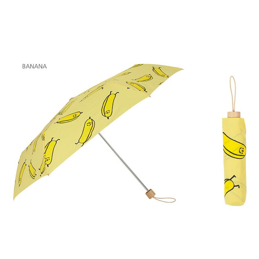 Banana - Life studio compact foldable pattern umbrella