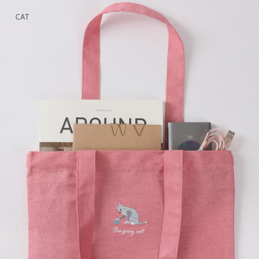 Cat - Tailorbird animal space shoulder tote bag