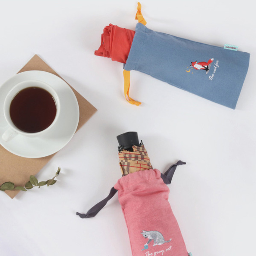 Tailorbird animal long drawstring pouch