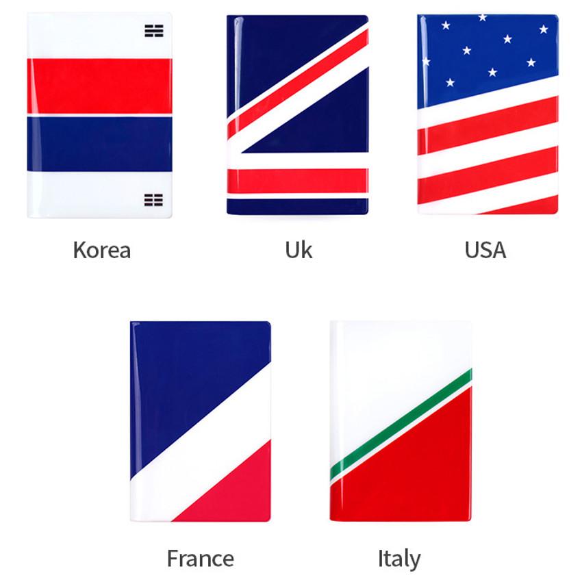 Flag RFID blocking passport case