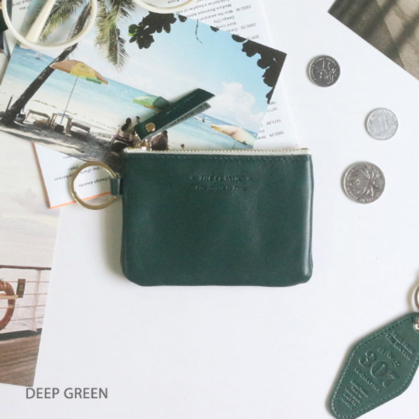 Deep green - The Classic leather card wallet