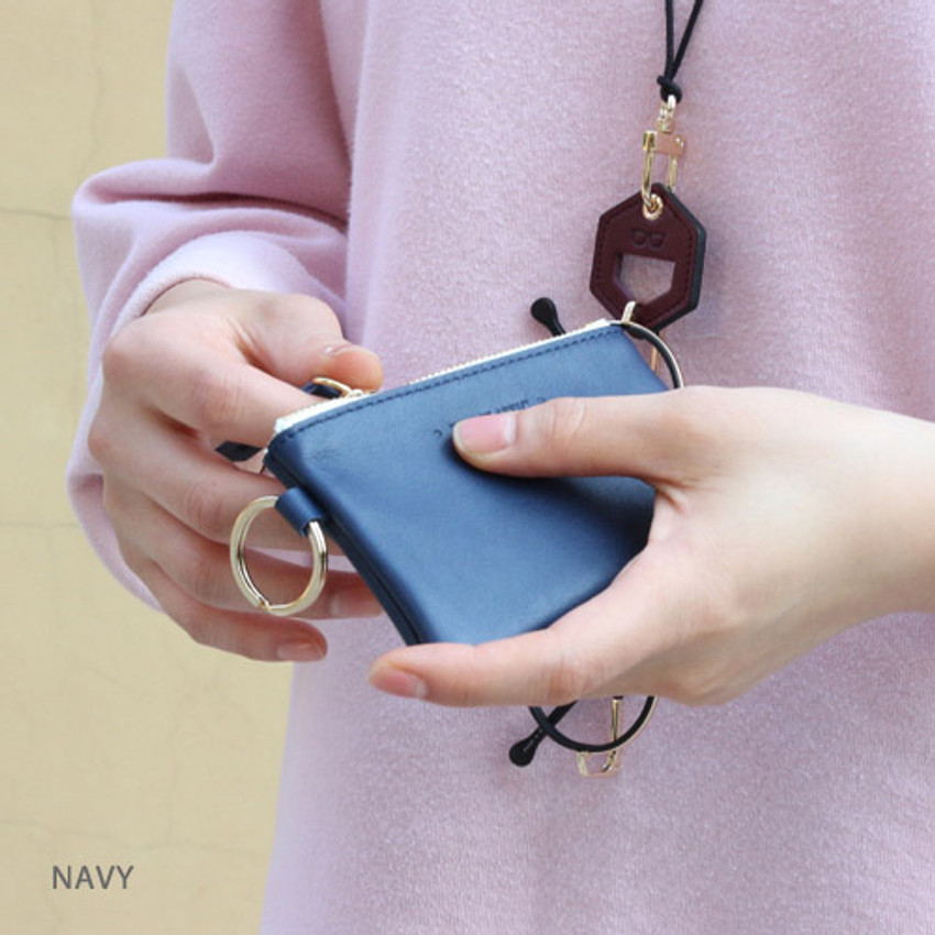 Navy - The Classic leather card wallet