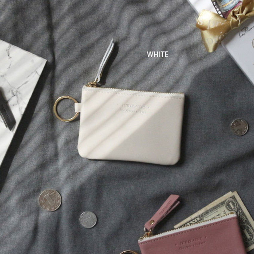 White - The Classic leather card wallet
