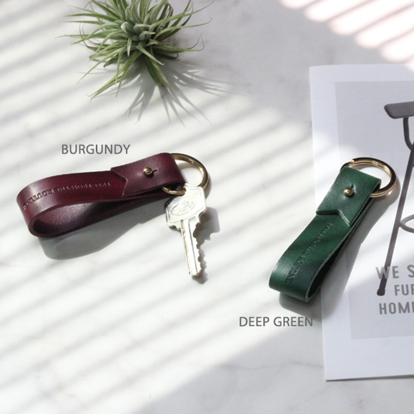 Burgundy, Deep green - The Classic leather handy key holder