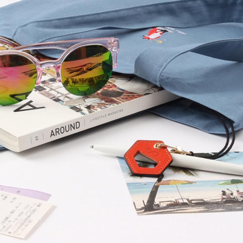 Orange - The Classic leather sunglasses necklace