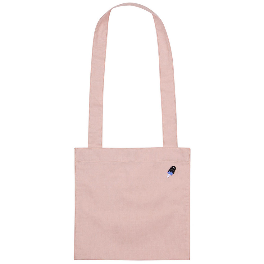 Pink - Tropical travel cotton shoulder bag